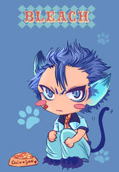 grimmjow the kitty colored by jiuge