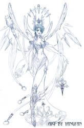 character design ice queen by jiuge