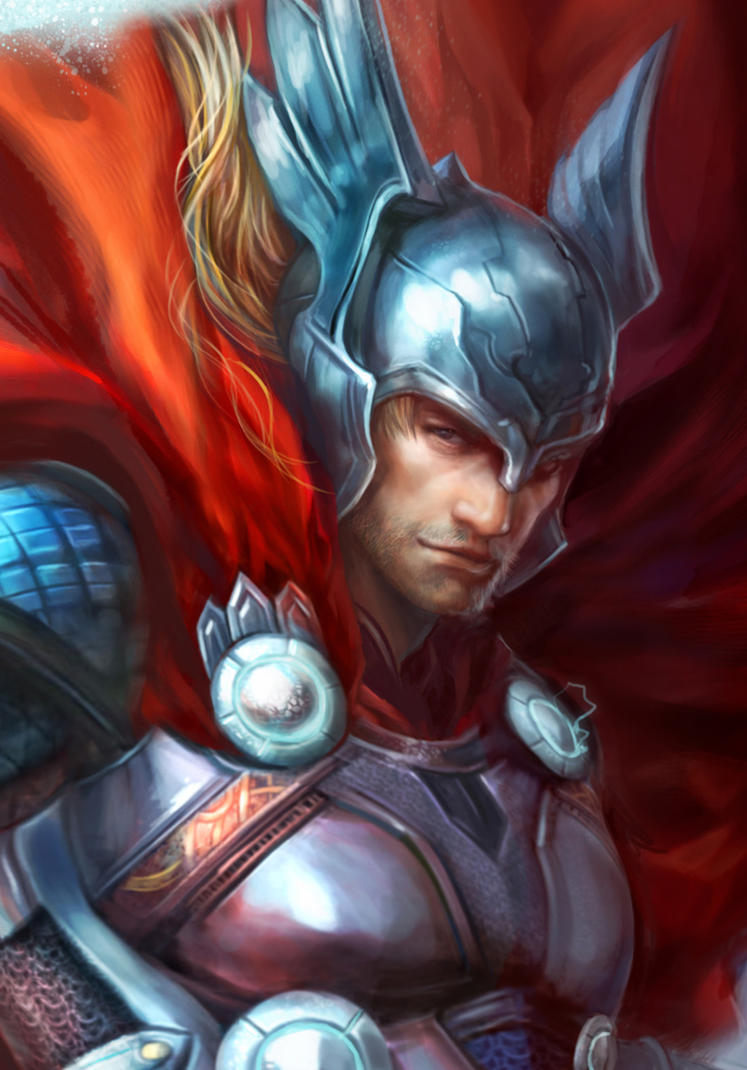 Thor:God of thunder Detail by jiuge