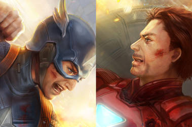 detail for Captain America by jiuge
