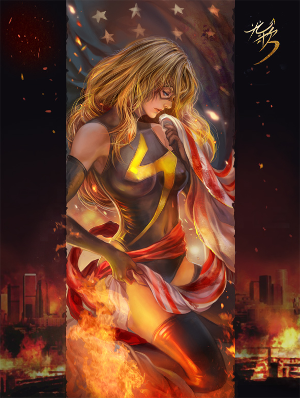 MS.Marvel fan art by jiuge