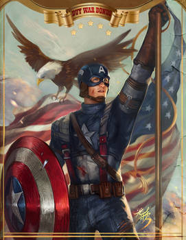 captain america happy JULY 4TH