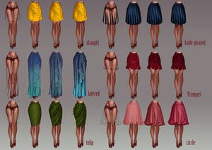 How to draw skirts