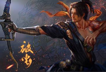 Overwatch hanzo fan art by jiuge