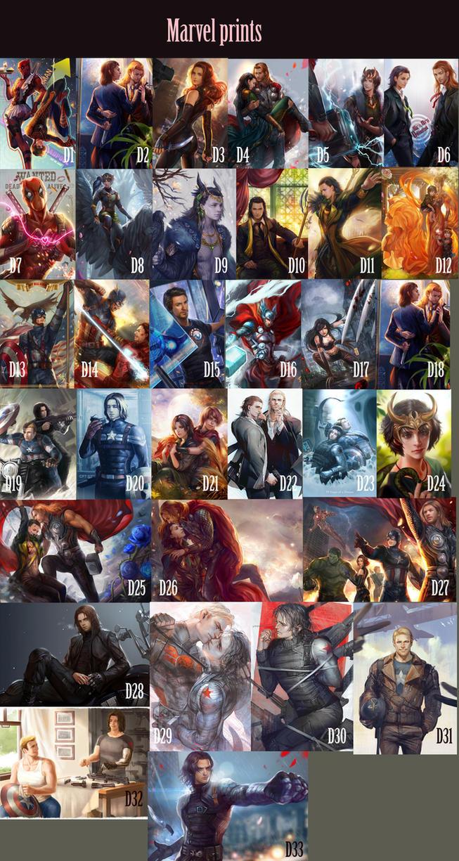 Marvel by jiuge