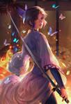 butterfly on fire Shinobu Kocho fan art