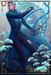 Devil may cry four season poster winter for vergil