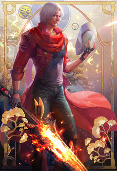 Devil may cry four season poster fall for Dante