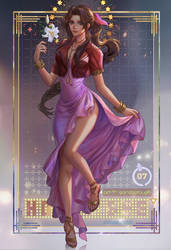 FF7 Remake count down Aerith fan art