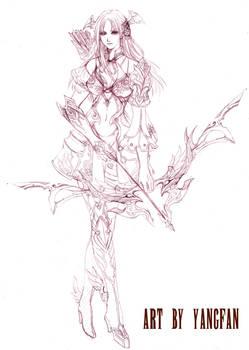 character design--elf girl