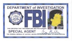 X-Files Fox Mulder FBI Badge Simpsons Style by sewandrere