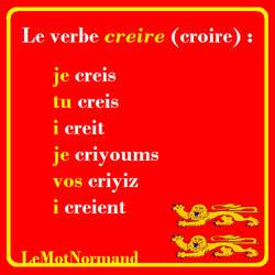Verbes normands #15 creire by sewandrere