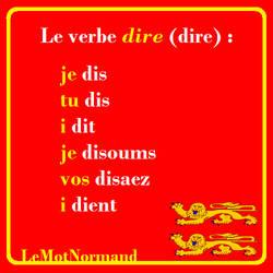 Verbes normands #16 dire by sewandrere