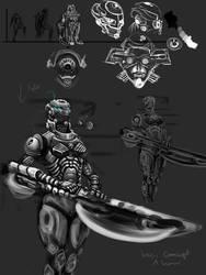 Concept Scifi-Axe-Girl by BaoVu