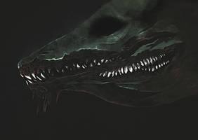 eyeless reptile by nuagselles