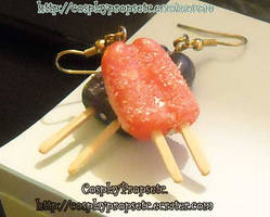 Cute Food - Popcicle earrings by CosplayPropsEtc