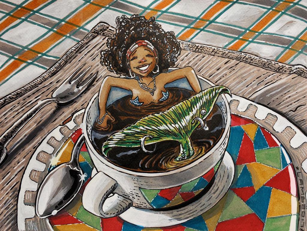 Coffee mermaid by Limbo4ever