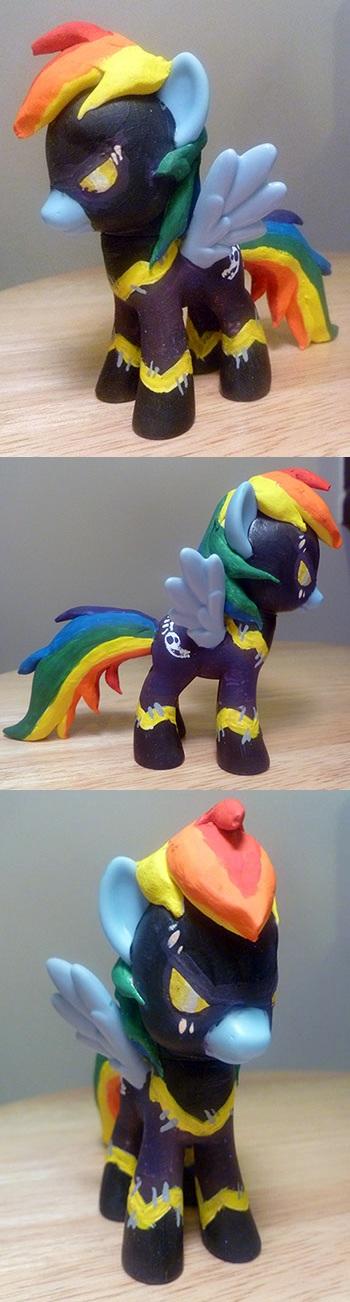 My Little Shadowbolt Rainbow Dash CUSTOM by mooncustoms