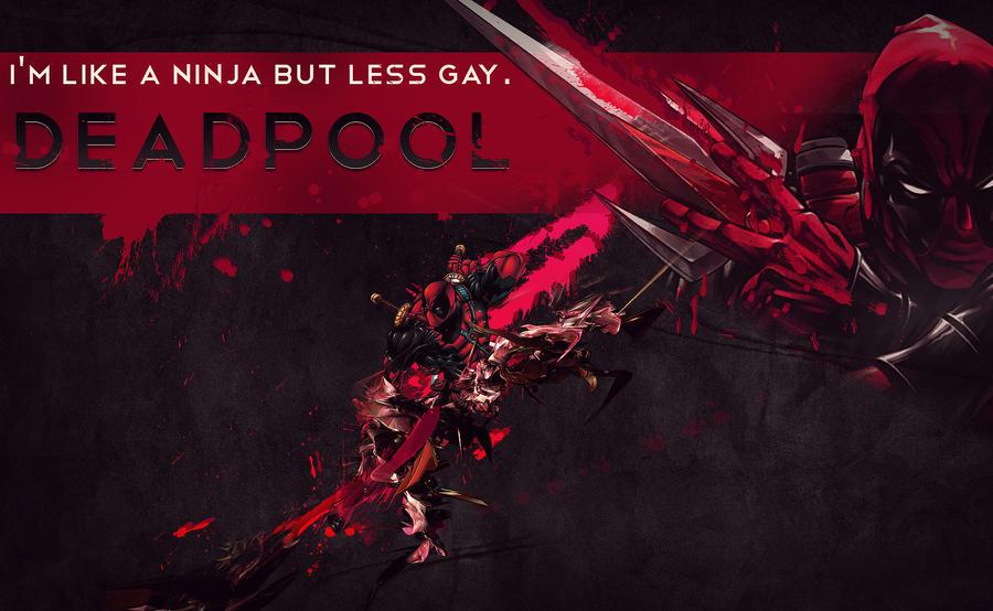Deadpool wallpaper by ambrosefx on deviantart for Wallpaper for less