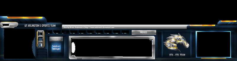 StarCraft II: UTA E-Sports Team Streamer Template