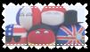 Countryball plushie stamp
