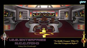 ISS Enterprise 1701-D Bridge by stourangeau