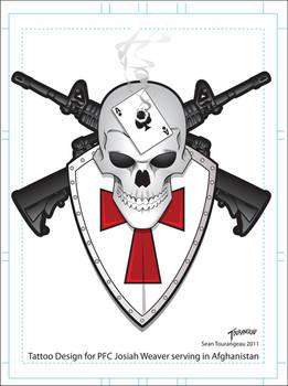 Tattoo Commission PFC Josiah Weaver