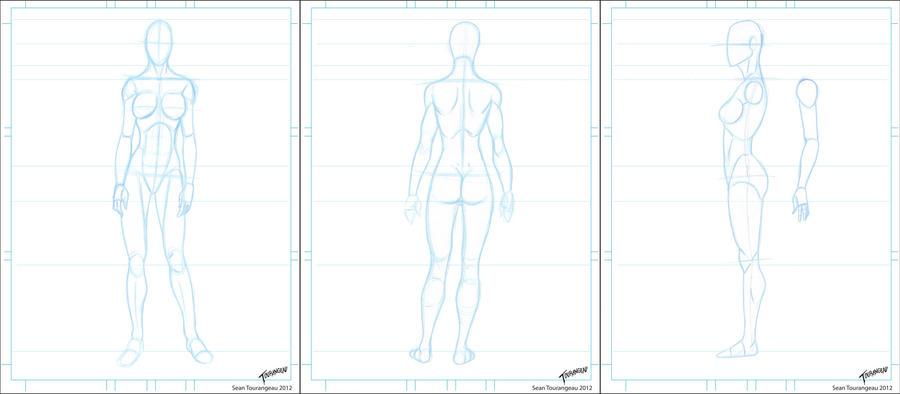 Character Design Template Deviantart : Blank female turnrounds by stourangeau on deviantart