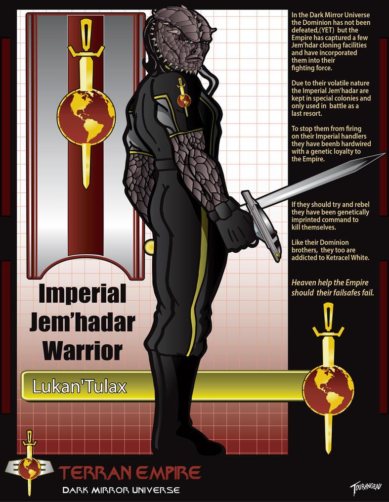 Imperial Jem'hadar Warrior by stourangeau