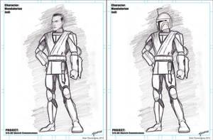 Mando Jedi Sketch Commission by stourangeau