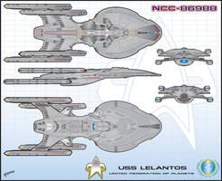 USS Lelantos NCC-86988 by stourangeau
