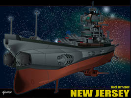 Space Battleship New Jersey Wallpaper