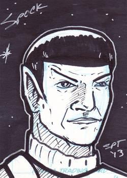 10 Minute Prime Spock Sketchcard