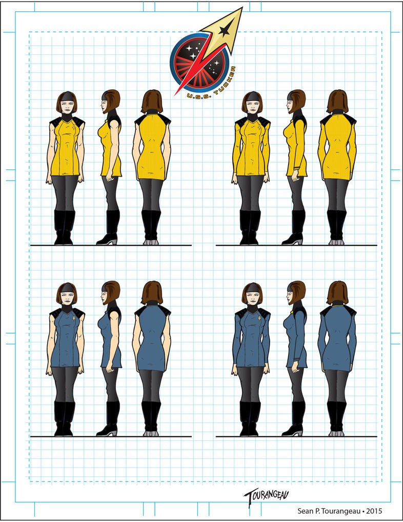 U.S.S.Tucker Female Duty Uniform by stourangeau