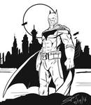 Dark Knight on the Town by stourangeau