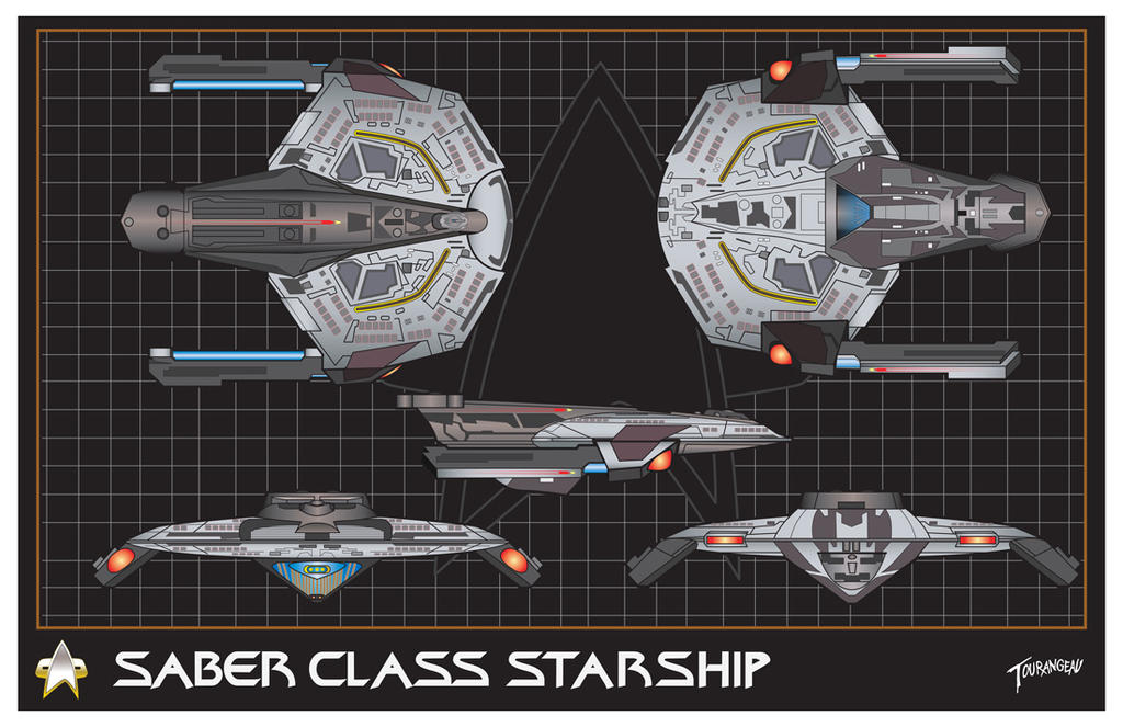 Saber Class Starship by stourangeau
