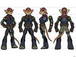 Action Mice Character Turnround Quartermaster