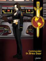 Commander Dr. Brea Daar by stourangeau