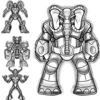 More robot concept sketches. by stourangeau