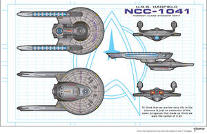 USS Hadfield NCC-1041 Refit by stourangeau
