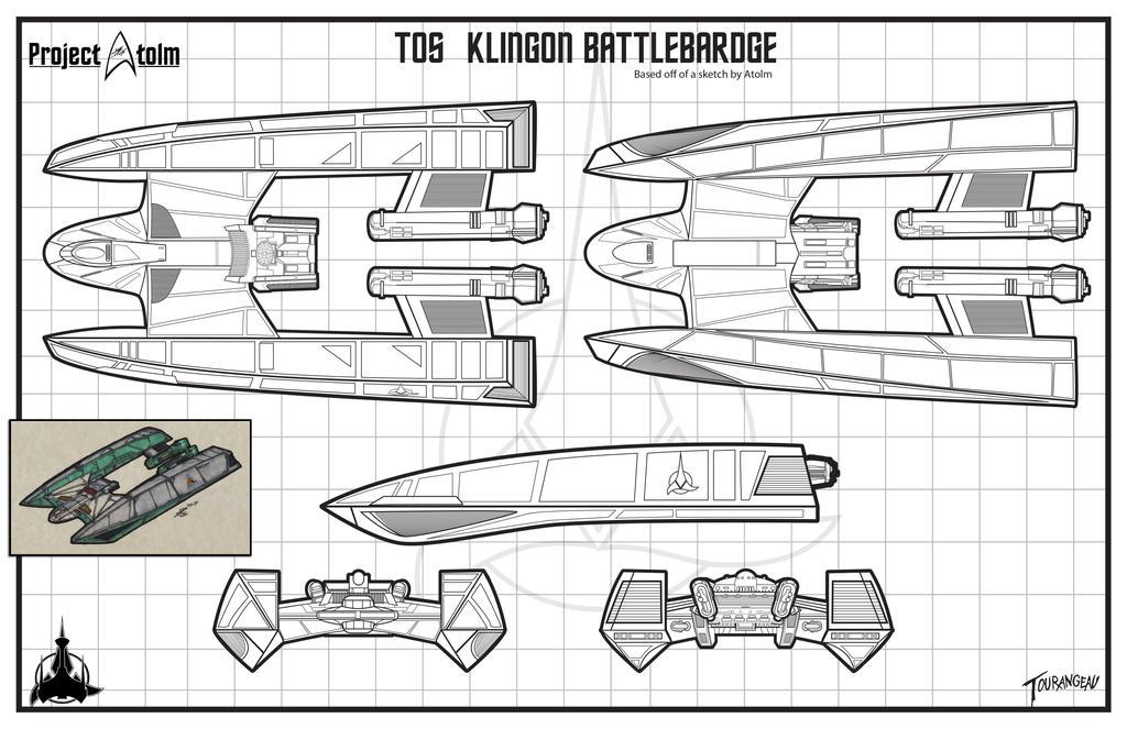 Klingon Pre TOS BattleBardge by stourangeau