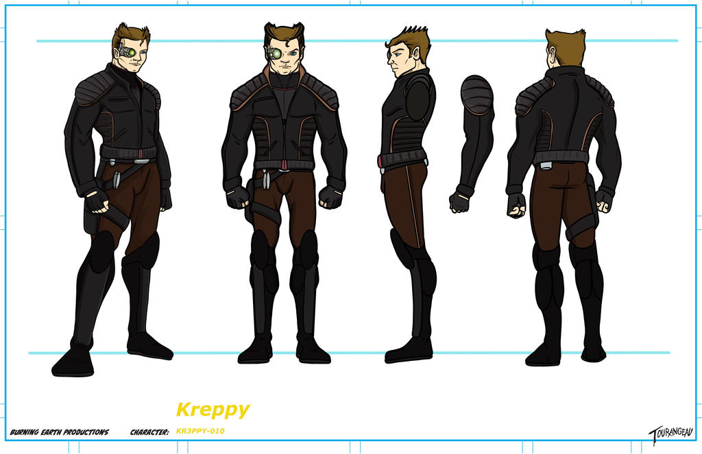 Burning Earth Productions Kreppy Model Sheet by stourangeau
