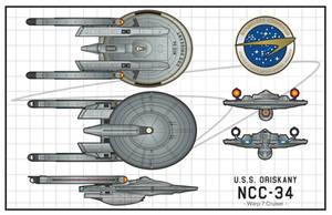 U.S.S.Oriskany NCC-34 by stourangeau