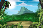 Tropical matte painting