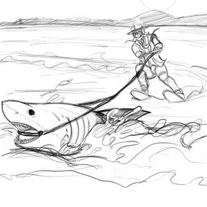 Shark Week Voodoo Pencils