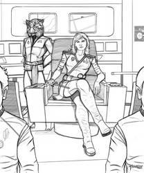 Captain Deveraux bridge scene pencils