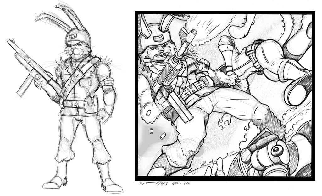 Ranger Rabbit character concept