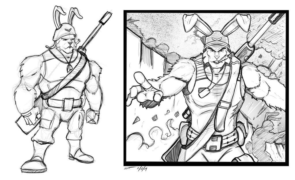 Ranger rabbit character concept Crosshares