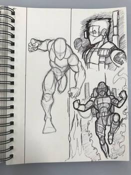 Retro sketchbook page