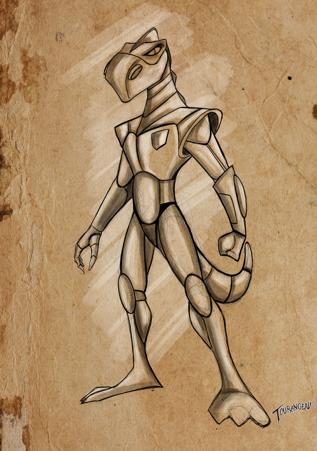 Dino-astronaut concept